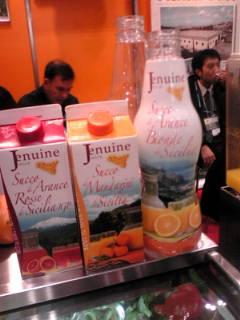イタリアのオレンジジュース。