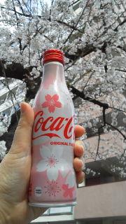 桜と桜コカ・コーラ